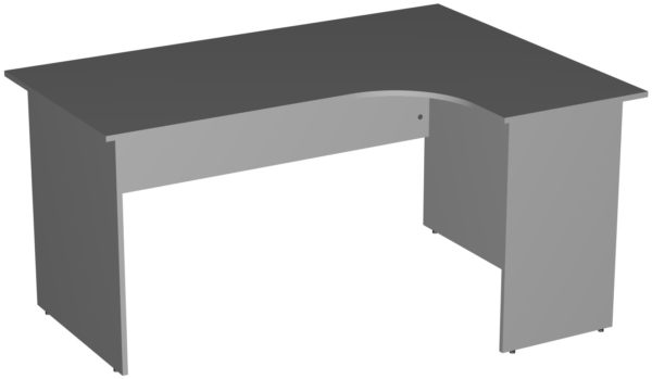 Офисные столы для персонала: Стол эргономичный угловой правый ЛДСП цвет серый