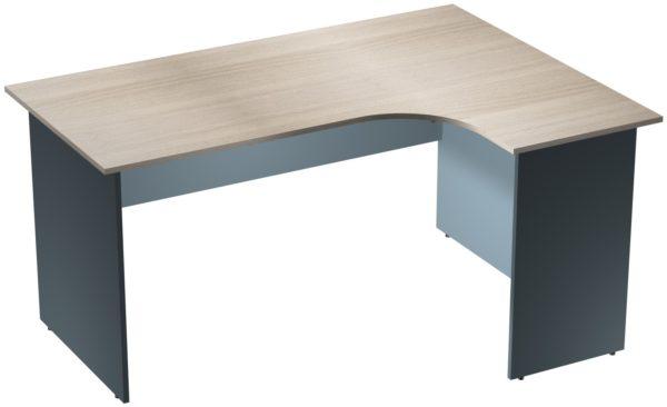 Офисные столы для персонала: Стол эргономичный угловой правый ЛДСП многоцветный