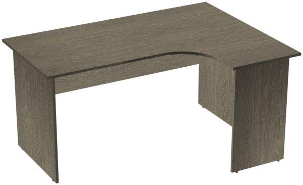 Офисные столы для персонала: Стол эргономичный угловой правый ЛДСП цвет Ясень Анкор