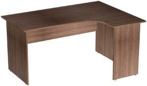 Офисные столы для персонала: Стол эргономичный угловой правый ЛДСП цвет Ясень Шимо тёмный