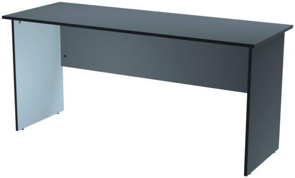 Офисные столы для персонала: Стол рабочий ЛДСП цвет серый