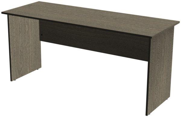 Офисные столы для персонала: Стол рабочий ЛДСП цвет Ясень Анкор
