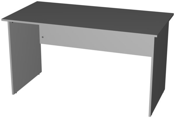 Офисные столы для персонала: Стол рабочий широкий ЛДСП цвет серый