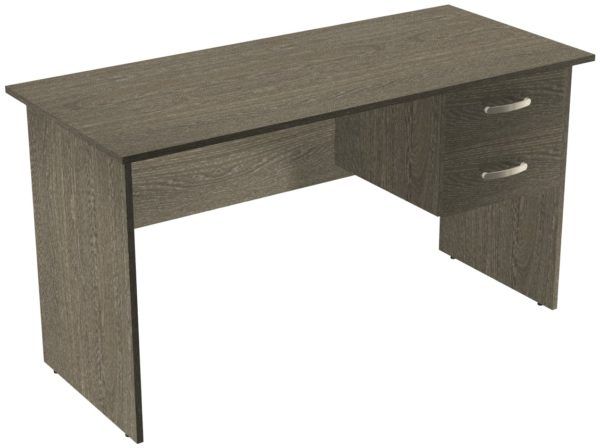 Офисные столы для персонала: Стол рабочий с ящиками ЛДСП цвет Ясень Анкор