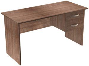 Офисные столы для персонала: Стол рабочий с ящиками ЛДСП цвет Ясень Шимо тёмный
