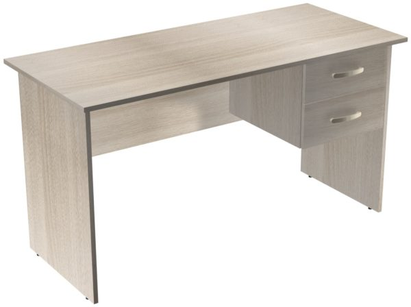 Офисные столы для персонала: Стол рабочий с ящиками ЛДСП цвет Ясень Шимо светлый