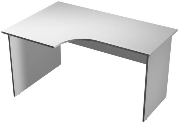 Офисные столы для персонала: Стол рабочий угловой левый ЛДСП цвет серый