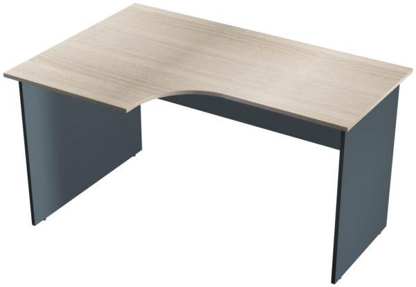 Офисные столы для персонала: Стол рабочий угловой левый ЛДСП многоцветный