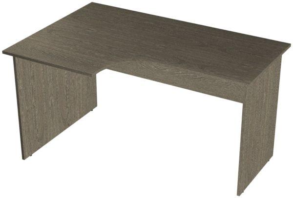 Офисные столы для персонала: Стол рабочий угловой левый ЛДСП цвет Ясень Анкор