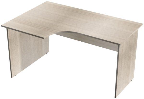 Офисные столы для персонала: Стол рабочий угловой левый ЛДСП цвет Ясень Шимо светлый