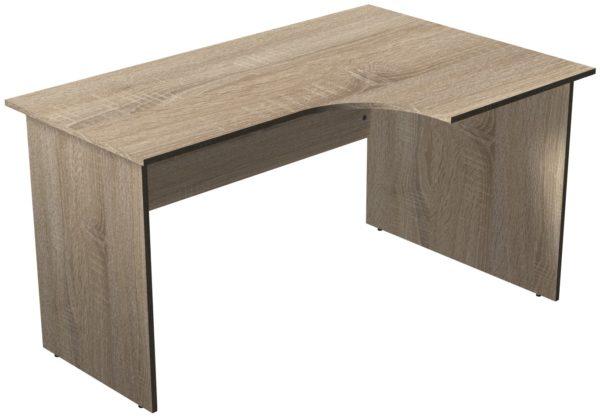 Офисные столы для персонала: Стол рабочий угловой правый ЛДСП цвет Дуб Сонома