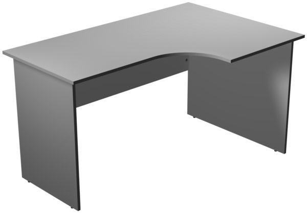Офисные столы для персонала: Стол рабочий угловой правый ЛДСП цвет серый