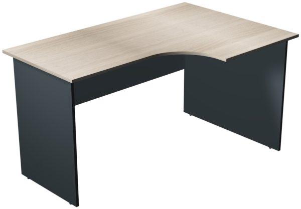Офисные столы для персонала: Стол рабочий угловой правый ЛДСП многоцветный