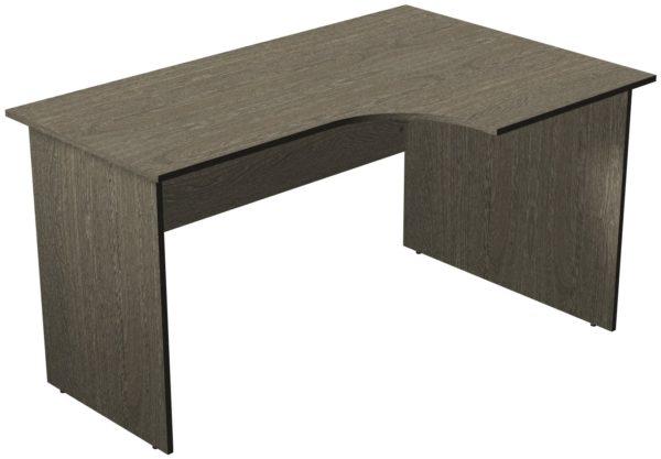 Офисные столы для персонала: Стол рабочий угловой правый ЛДСП цвет Ясень Анкор