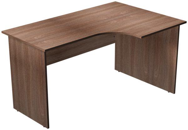 Офисные столы для персонала: Стол рабочий угловой правый ЛДСП цвет Ясень Шимо тёмный