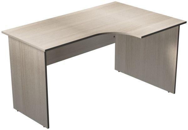 Офисные столы для персонала: Стол рабочий угловой правый ЛДСП цвет Ясень Шимо светлый
