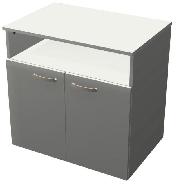 Тумба для оргтехники и принтера серого цвета