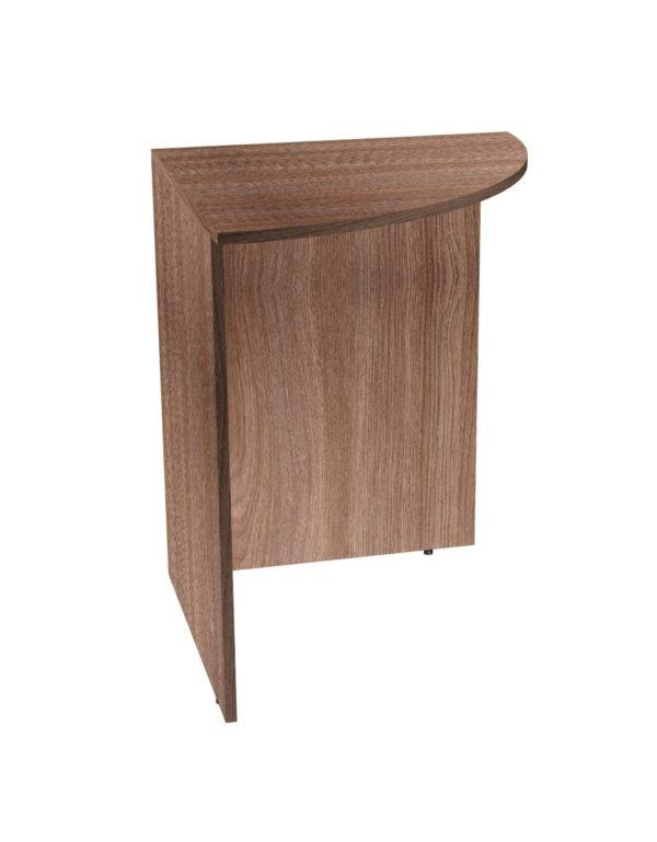 Стол приставной угловой из ЛДСП цвета Ясень Шимо тёмный