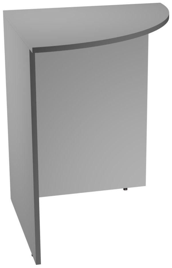Угловой сегмент офисного стола из ЛДСП серого цвета