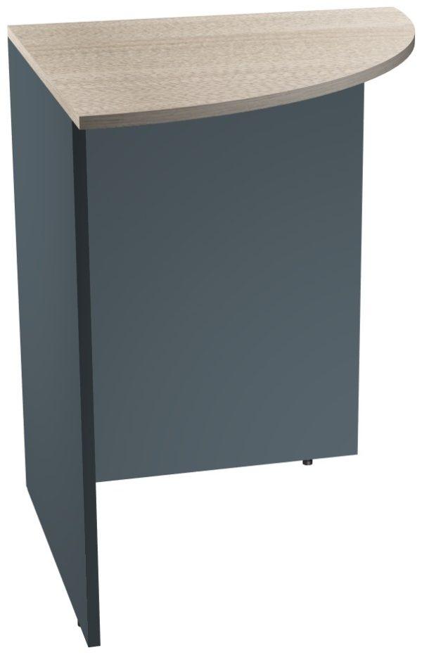 Угловой сегмент офисного стола из ЛДСП многоцветного
