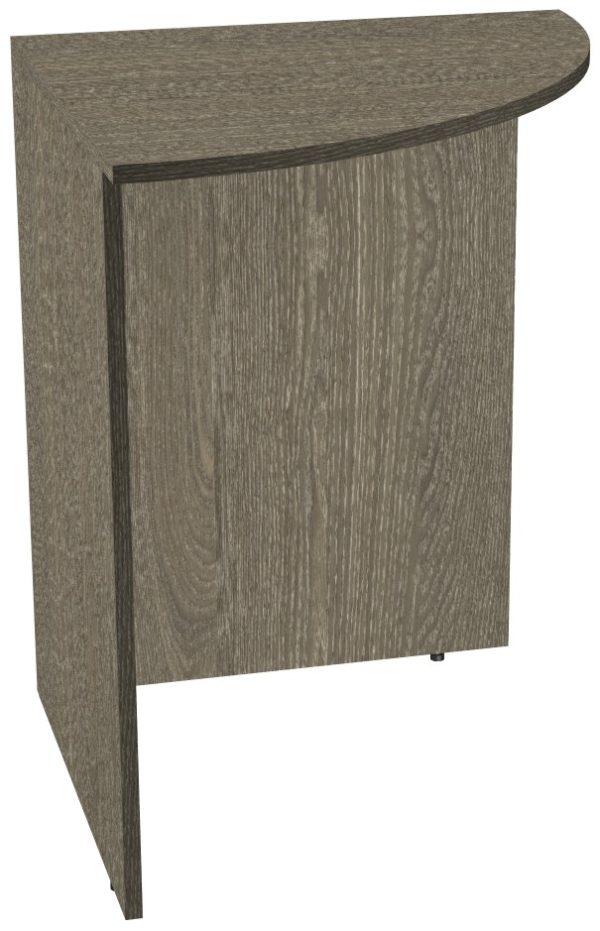 Угловой сегмент офисного стола из ЛДСП цвета Ясень Анкор