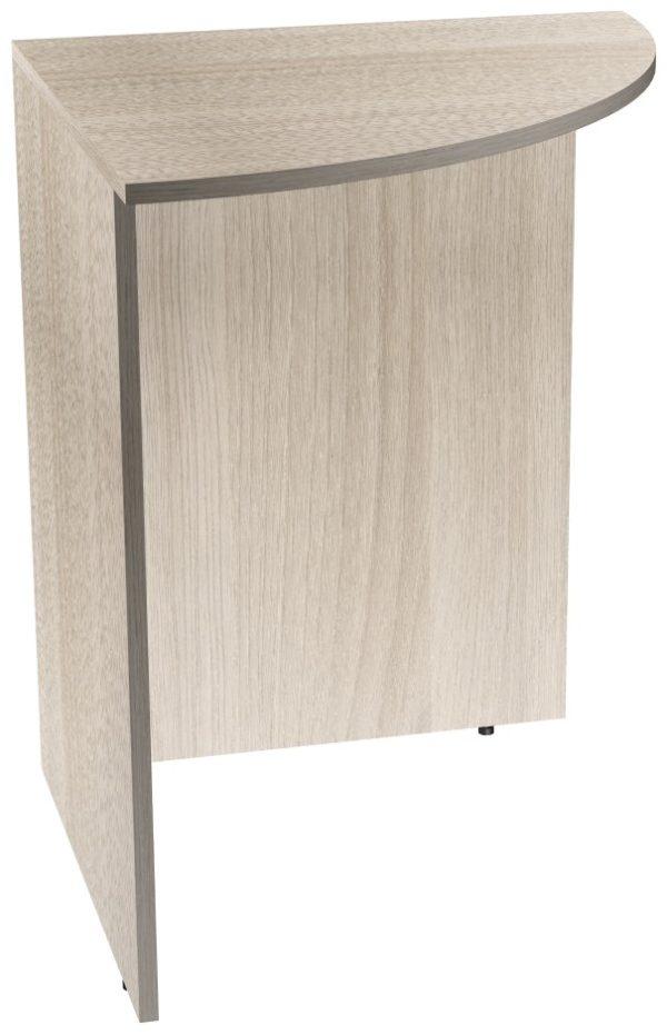 Угловой сегмент офисного стола из ЛДСП цвета Ясень Шимо светлый