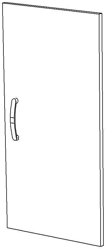Дверь ЛДСП правая